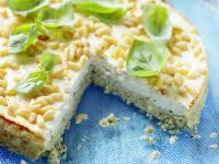 Savory Cheesecake with Pine Nuts recipe