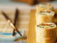 Savory Coconut Rice Puff Pastry Rolls in Sushi Style recipe