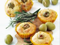 Savory Feta and Rosemary Muffins with Olives and Sundried Tomatoes recipe