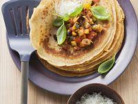 Savory Pancakes with Vegetable Salsa recipe