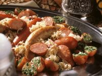 Savory Plate with Sausages and Potatoes recipe