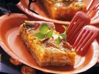 Savory Pumpkin Pastry with Gorgonzola and Bacon recipe