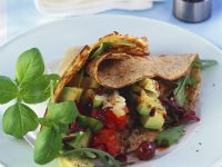 Savory Salad Crepes recipe