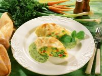 Savory Vegetable Strudel with Herb Sauce recipe