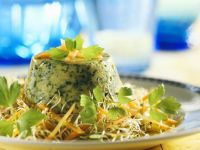 Savoury Flan with Carrot and Sprout Salad recipe