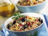 Savoury Grains with Flaked Fish recipe