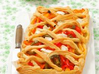 Savoury Lattice Pastry Pie recipe