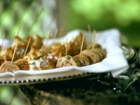 Savoury Mini Cream Puffs and Crepe Rolls recipe