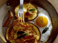 Savoury Pancakes with Pork and Eggs recipe