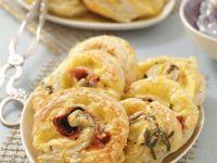 Savoury Pastry Swirls recipe