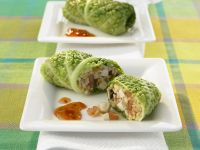 Savoy Cabbage and Mushroom Parcels recipe