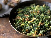Savoy Cabbage and Onions with Walnuts