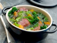 Savoy Cabbage and Sausage Stew recipe