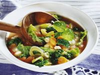 Savoy Cabbage and White Bean Soup