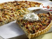 Savoy Cabbage Quiche with Garden Cress Yogurt recipe