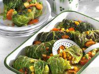Savoy Cabbage Rolls Stuffed with Pumpkin recipe