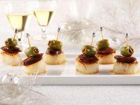 Scallop, Chorizo and Olive Skewers recipe