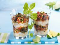 Scallop Tartar with Tomato Salad recipe