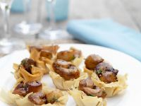 Scallops in Pastry Shells recipe
