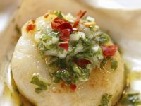 Scallops with Garlic and Parsley