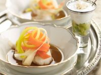Scallops with Julienned Vegetables recipe