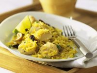 Scallops with Spiced Rice recipe