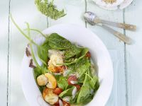 Scallops with Spinach Salad recipe