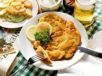 Schnitzel with Potato Cucumber Salad recipe