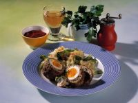 Scotch Eggs with Mashed Potatoes recipe