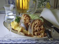 Scrambled Eggs with Crab and Pickled Herring recipe