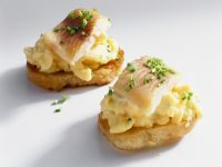 Scrambled Eggs with Smoked Fish on Toast recipe