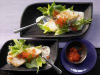 Sea Bass Fillets with Caviar recipe
