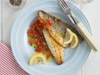 Sea Bass with Chopped Tomato Sauce recipe