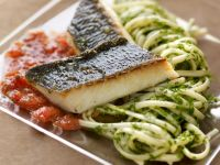 Sea Bass with Herbs and Tomato Pasta recipe