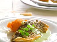 Sea Bass with Mashed Sweet Potatoes recipe