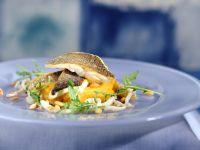 Sea Bass with Potato-Pumpkin Puree recipe