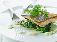 Sea Bass with Spinach recipe