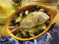 Sea Bream with Fennel and Olives recipe
