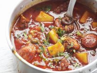 Seafood and Spanish Sausage Casserole recipe