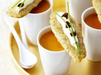 Seafood Bisque with Sesame Crackers recipe