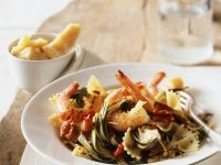 Seafood Bow-tie Pasta recipe