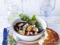 Seafood Broth with Chopped Salsa recipe
