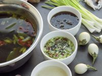 Seafood, Fondue Broth and Dips recipe