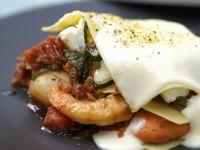 Seafood Lasagna with Bechamel Sauce recipe