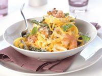 Seafood Pasta with Parmesan recipe