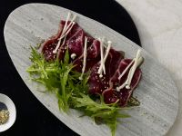 Seared Beef Carpaccio recipe