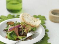 Seared Brussels Sprouts with Bacon and Onion recipe