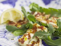 Seared Cheese with Rocket recipe