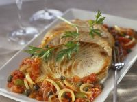 Seared Fish Steak with Capers recipe