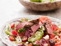 Seared Lamb Salad with Feta and Onions recipe